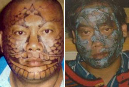 "Fooled job seekers stuck with face tattoos. ""Two Indonesian job seekers have"
