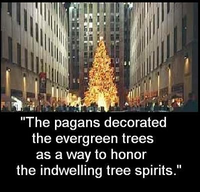 DECORATING TREES GOES WAY BACK TO ANCIENT TIMES